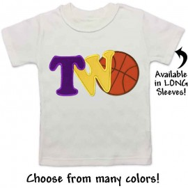2nd Birthday Basketball Shirt