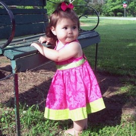 Watermelon Pink Baby and Toddler Sundress