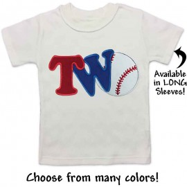 2nd Birthday Baseball Shirt