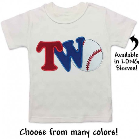 fd387770 2nd Birthday Baseball Shirt - Lucky Skunks Baby-Toddler Clothes