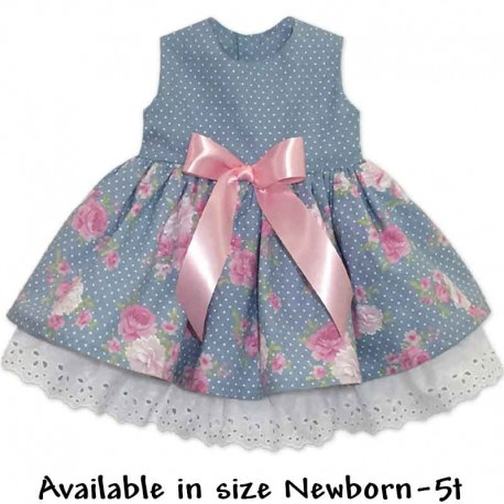 Beautiful Blue Toddler and Baby Dress