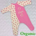 Organic Pink Baby Outfit