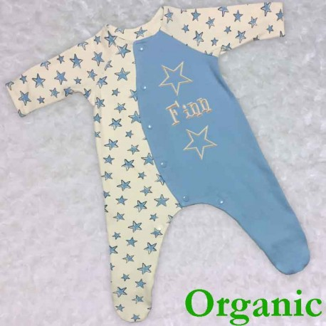 Blue Organic Baby Outfit