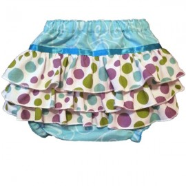 Teal and Purple Ruffled Baby Bloomers