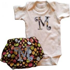Custom Applique Polka Dot Baby Onesie or T-shirt