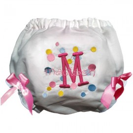 Personalized Pink Dots Baby Bloomers