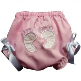 Stinkin' Cute Baby Footprints Bloomers - Pink