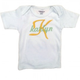 Personalized Yellow Baby T-shirt or Onesie