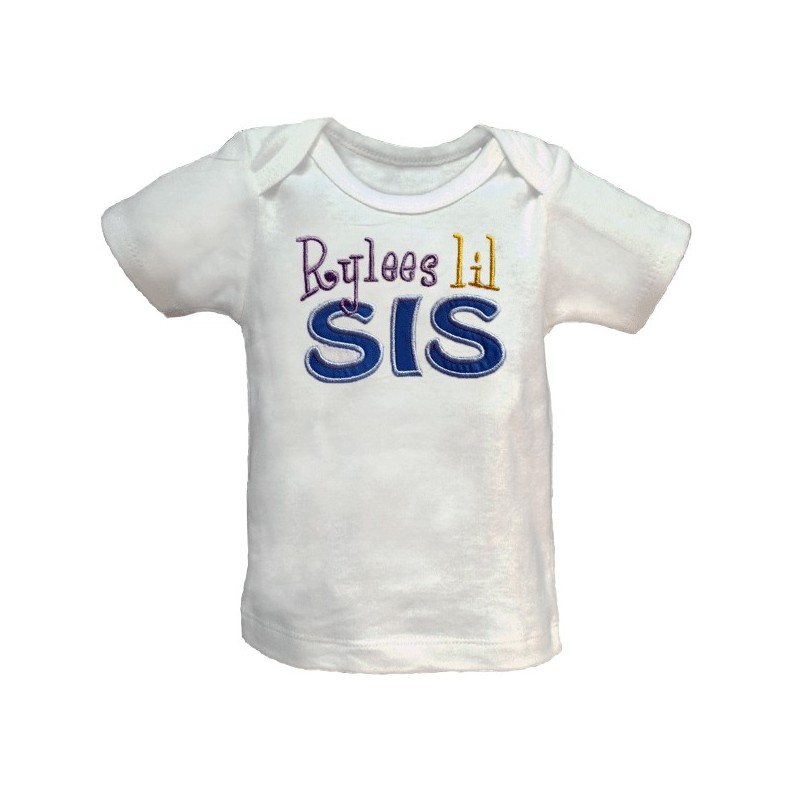 Personalized Bro Or Sis Applique T Shirt Lucky Skunks