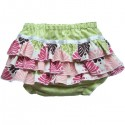 Green and Pink Ruffled Baby Bloomers