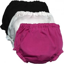 Baby Bloomer Trio - Bright Pink, White, and Black