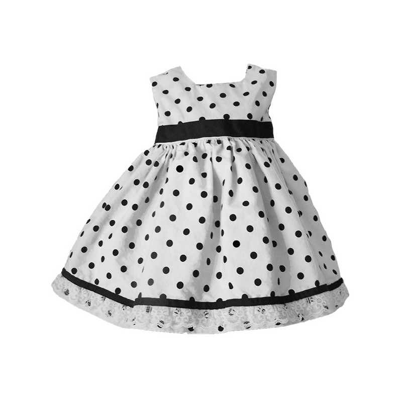Black and White Polka Dot Baby and Toddler Dress - Lucky Skunks ...