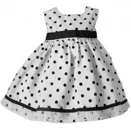 Black and White Polka Dot Toddler Dress