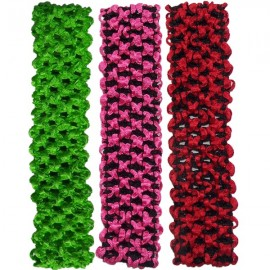Headband Trio Lime Green-Pink-Red