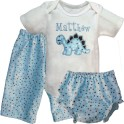 Cute & Cuddly Blue Dinosaur Baby Outfit