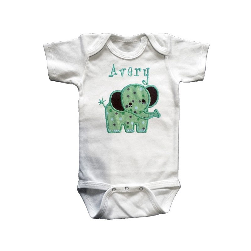 Cute & Cuddly Green Elephant Baby Outfit - Lucky Skunks ...