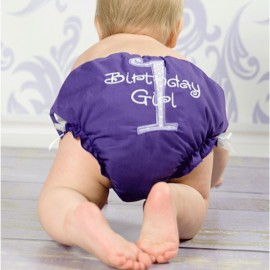 Purple Birthday Baby Bloomers