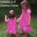 Chevron Ruffled Toddler and Baby Dress