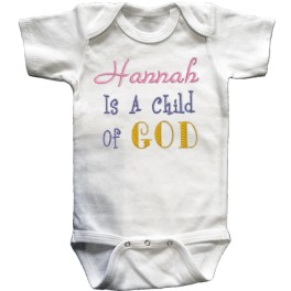Child Of God T Shirt Or Baby Onesie Lucky Skunks Baby