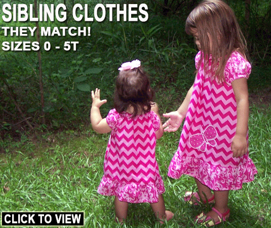 Big Sister, Little Sister Clothing in Sizes 0 - 5T